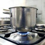 Propane cooking range