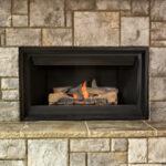 Fireplace gas log set